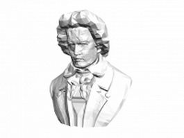 Chopin Bust Statue 3d model