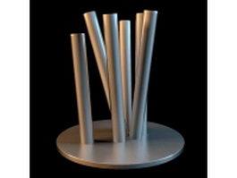 Metal pipe vase 3d model