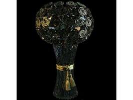Glass bouquet vase 3d model