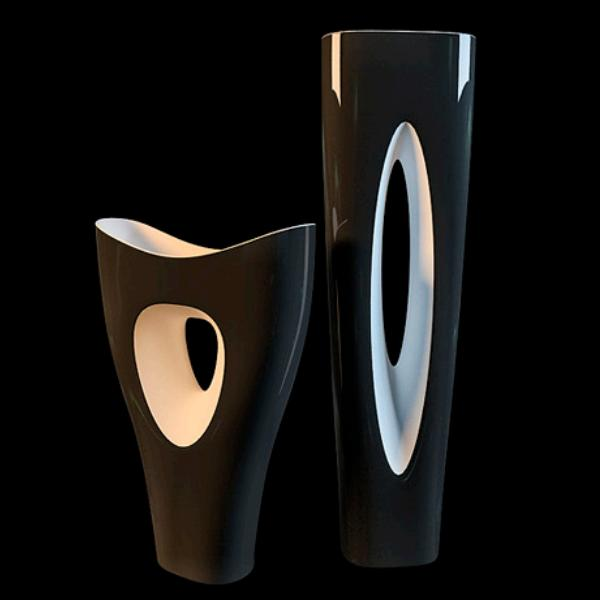 Modern Vase Set 3d Model 3dsmax Files Free Download