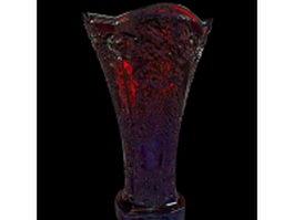 Art glass vase 3d model