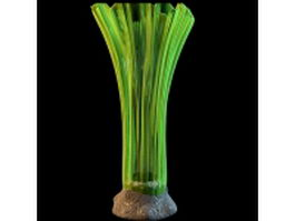 Modern green glass vase 3d model