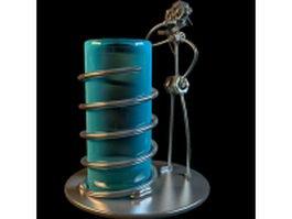 DIY ironwork vase 3d model