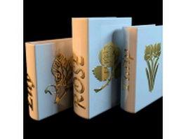 Vintage book vase 3d model