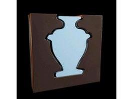 Elegant book vase 3d model