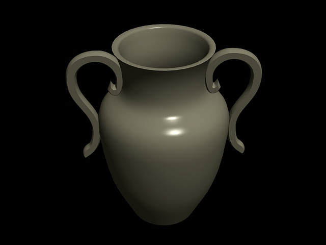 Pottery Vase With Handles 3d Model 3dsmax Files Free Download