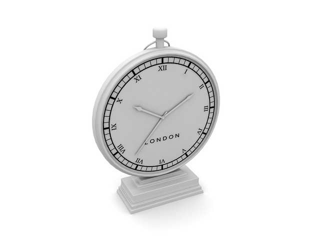 Vintage desk clock 3d rendering