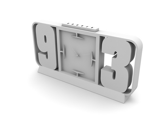 Office table clock 3d rendering