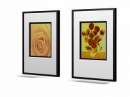Wall picture frame sets 3d model