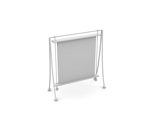 Floor Picture Frame Stand 3d Model Cadnav