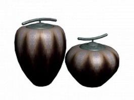 Decorative clay vessel 3d model