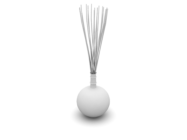 Vase With Sticks Decoration 3d Model 3dsmax Files Free Download
