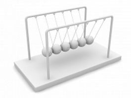 Classic Newtons Cradle 3d model