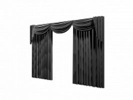 Drapes with valance 3d model