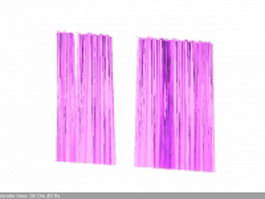 Pink blackout curtain 3d model