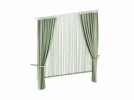 Drapes with sheers 3d model