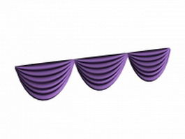 Purple balloon valance 3d model