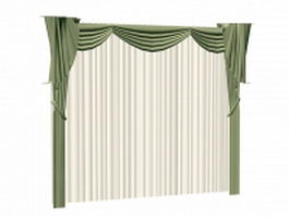 Swag Valances with sheer 3d model
