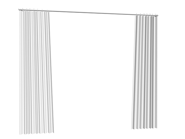 Flat Panel Curtains 3d Model 3dsmax Files Free Download
