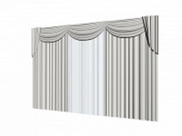Theater drapes and stage curtains 3d model