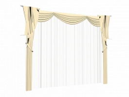 Valance with sheer curtains 3d model