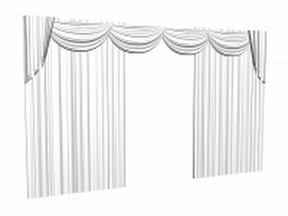 Blackout drapes and valance 3d model