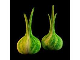 Green garlic vase 3d model