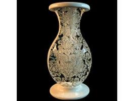 Turnip-shape painting vase 3d model