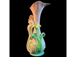 Vintage girl vase 3d model