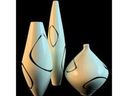 Modern elegant vase sets 3d model