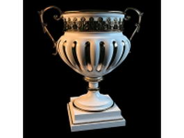 Luxury trophy vase 3d model