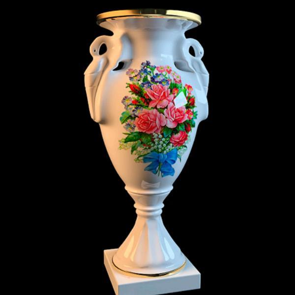 Antique Porcelain Hand Painted Vase 3d Model 3dsmax Files