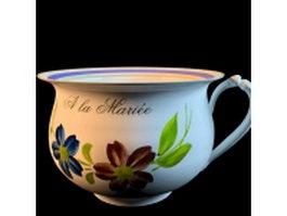 Ceramic jug vase 3d model