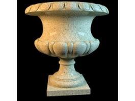 Granite planters marble vase 3d model