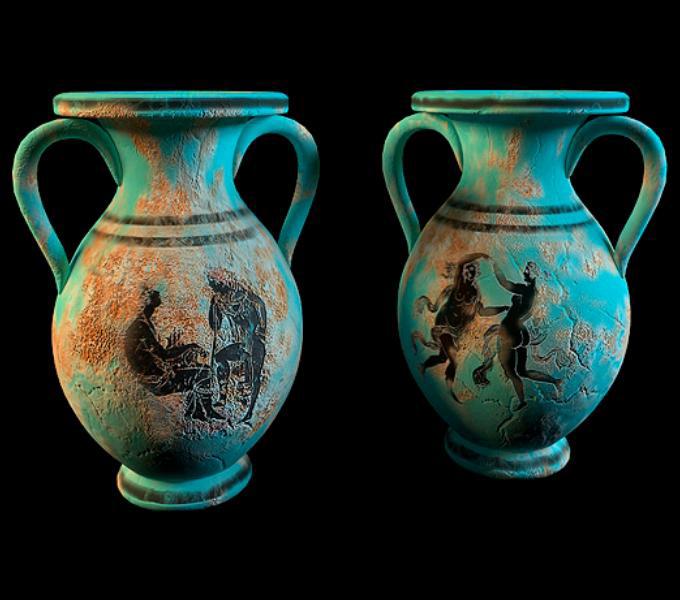 Antique Decorative Urn Vase Set 3d Model 3dsmax Files Free