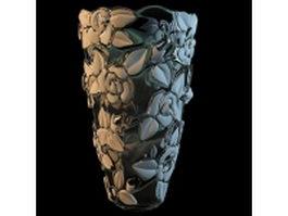 Elegant flower vase 3d model