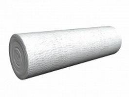 Crepe roller bandage 3d model