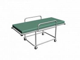 Hospital vehicle bed 3d model