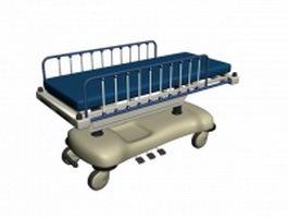 Adjustable hospital bed 3d model
