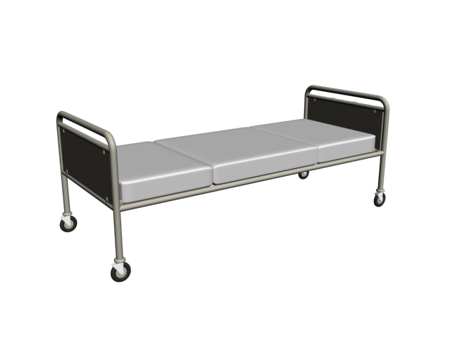 Single hospital bed 3d model 3dsmax files free download for 3ds max bed model