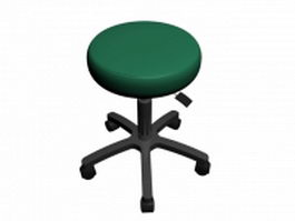 Medical exam stool 3d model