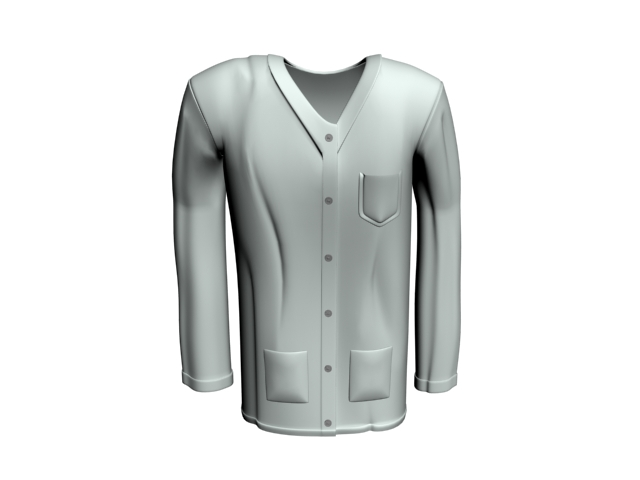 Doctor gown 3d model 3dsMax files free download - modeling 19385 on ...