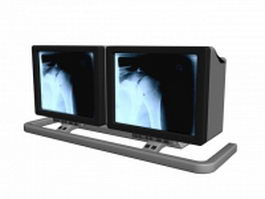 Showcases medical monitors 3d model