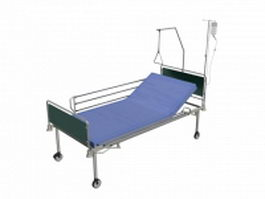 Modern hospital bed 3d model