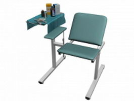 Exam chair with drugs 3d model