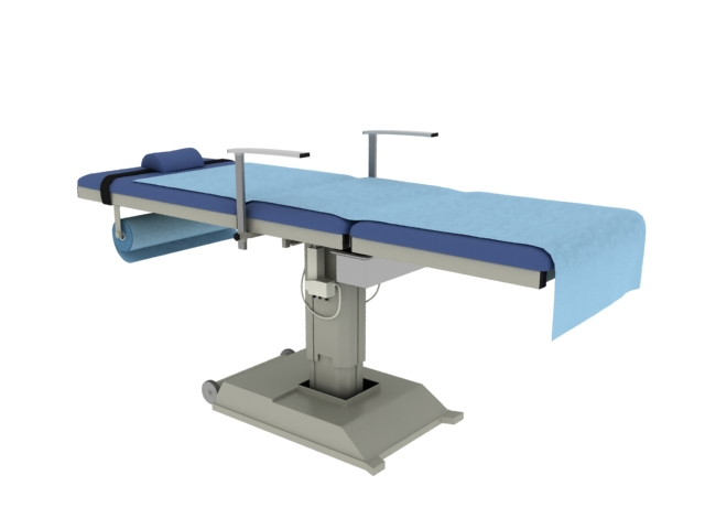 Stationary operating table 3d rendering