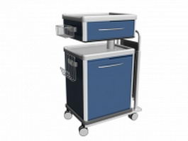 Hospital nursing supply cart 3d model