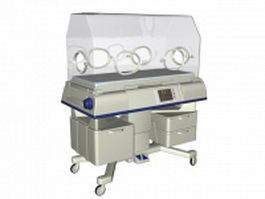 Baby incubator 3d model