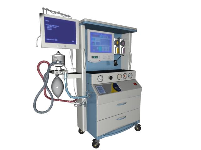Hemodialysis machine 3d rendering