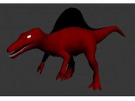 Cartoon tyrannosaurus dinosaur 3d model